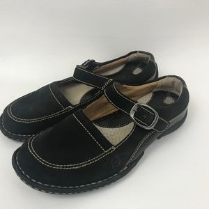 Born Women's 7 Mary Jane Shoes Black Suede